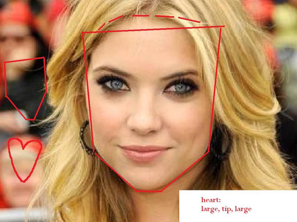 Ashley Benson Heart  Face Shapes 101