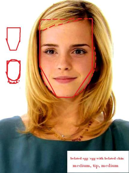What shape does Emma Watson have? An egg with a belated chin shape.