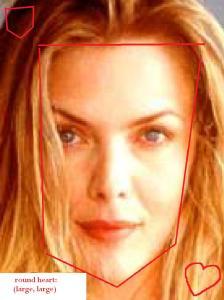 Michelle Pfeiffer round heart