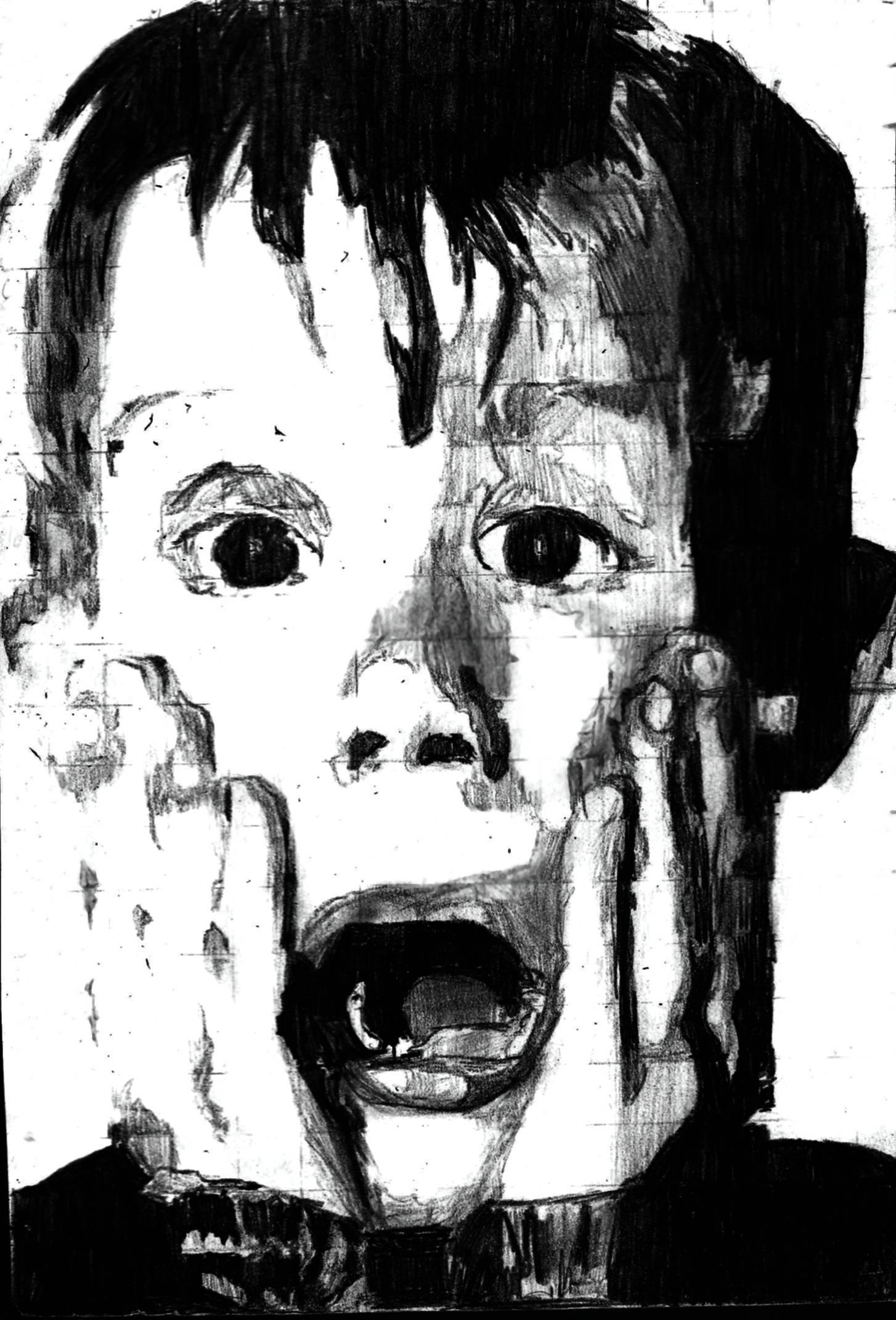 Home Alone Grid Version Expressions Sketch Scared Aah Emotional | Face Shapes 101
