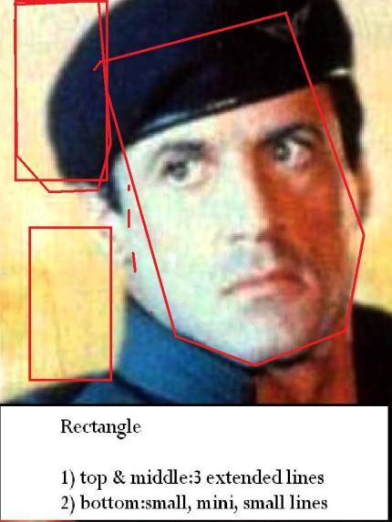 Syllvestor Stallone rectangular