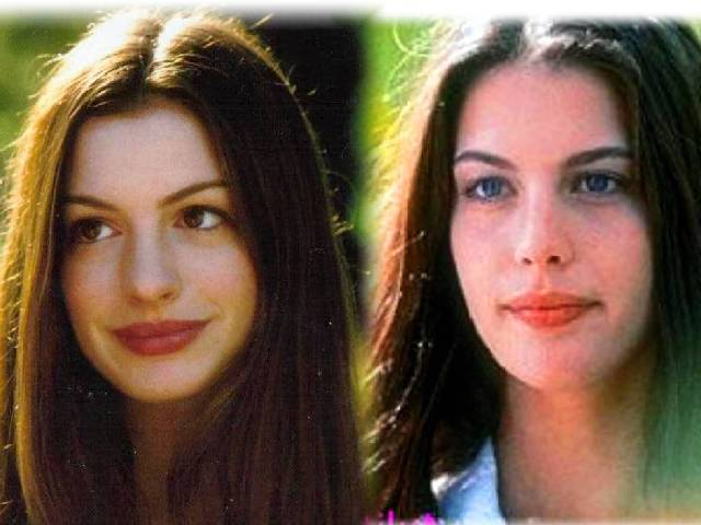 Marvelous Anne Hathaway Liv Tyler Face Shapes 101 Natural Hairstyles Runnerswayorg
