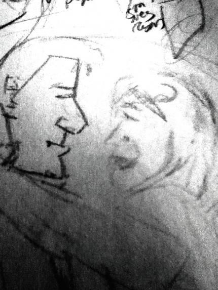 Quick sketch profile Treat Williams Michelle Pfeiffer