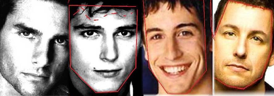 Tom Cruise Sean Faris Jason Segal Adam Sandler (all are somewhat ...