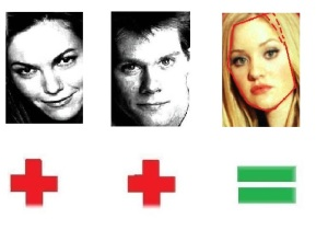 Diane Lane & Kevin Bacon=AJ Michalka