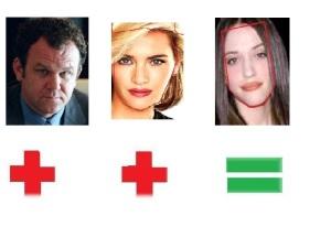 John C. Riely & Kate Winslet=Kat Dennings