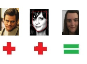 Image result for face shapes 101 jim carrey zooey deschanel