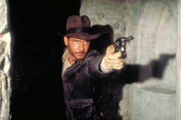 Image result for harrison ford indiana jones shooting gun