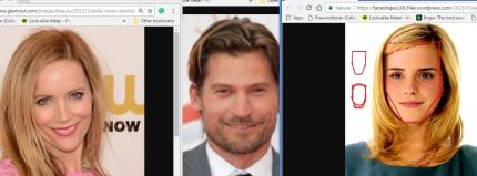 Image result for emma watson leslie mann face shapes 101